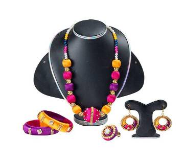 Multi Color Silk Thread Jewelry Set
