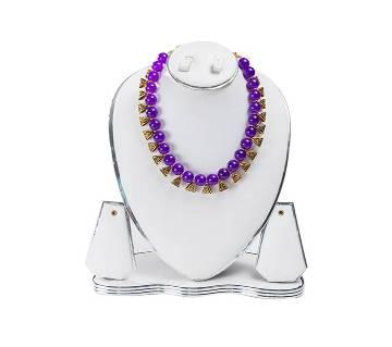 Purple Color Artificial Pearl Necklace