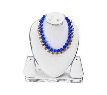 Blue Color Artificial Pearl Necklace