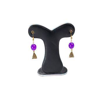 Purple Color Artificial Pearl Earring