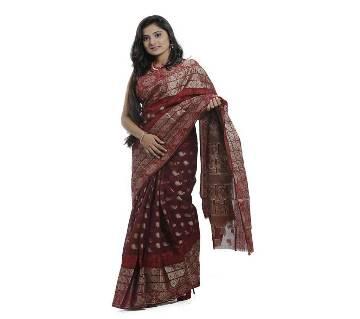 Red Color Cotton Tangail Jamdani Saree