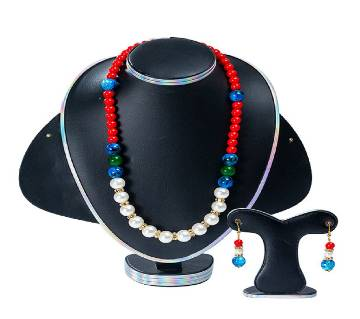 Multi Color Stone Pearl Setting Jewellery Set