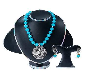 Blue Colour Marble Stone  Setting Jewellery Set