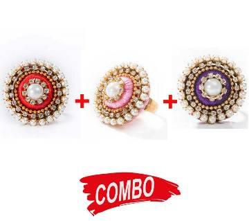 Hot Pink Color Silk Thread Finger Ring