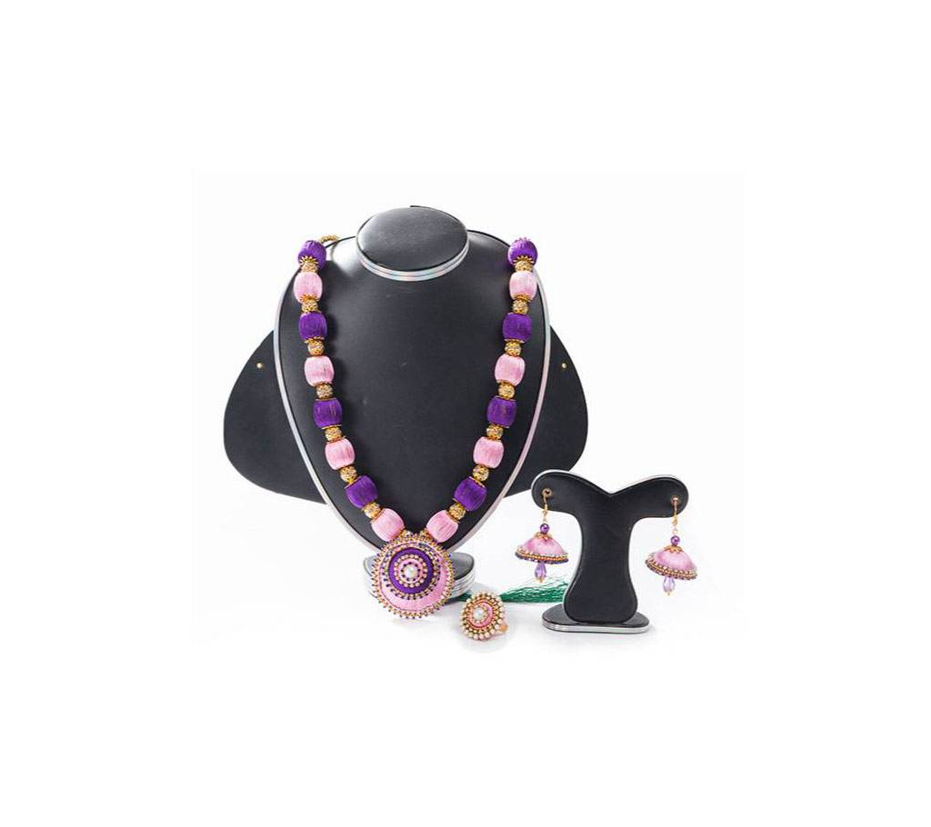 Multi Color Silk Thread জুয়েলারী সেট বাংলাদেশ - 655759
