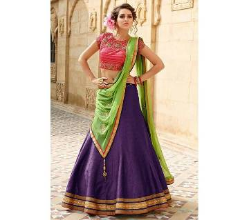 Multi color dhupiyan lehenga