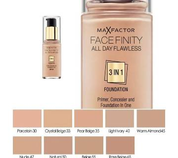 Max Factor Facefinity All Day Flawless 3 In 1 ফাউন্ডেশন SPF20 55 Beige Ireland