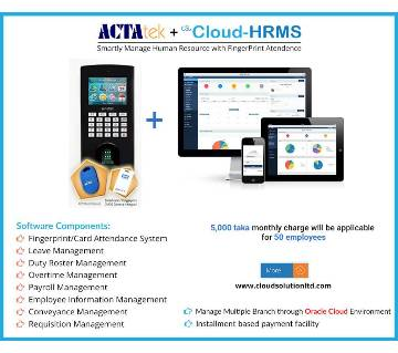 Cloud-HRMS with Fingerprint (50 emp)