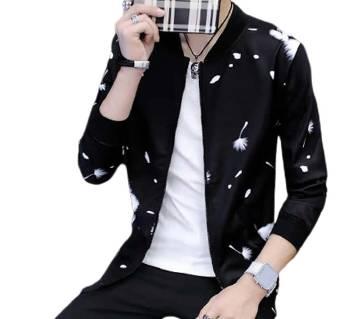 Black Designable Bonded Jacket For Men