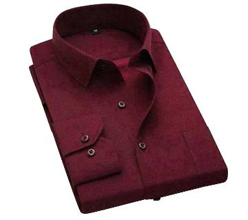 Maroon Color Formal Shirt