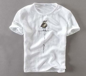 White Bird Stylish T-shirt For Man
