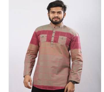 Multi Colour Printed Cotton Katua For Men