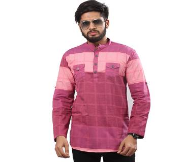 Multi colour Printed Cotton Katua For Men