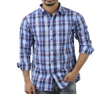 Stipe Printed Cotton Casual Full Sleeve Shirt For Me