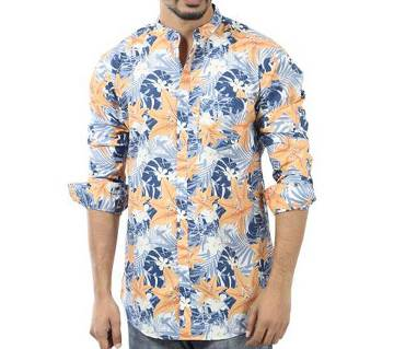 Printed Cotton Casual Full Sleeve Shirt For Men