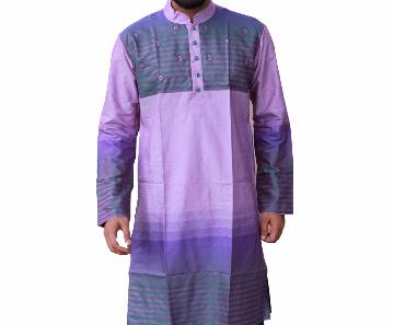 Multi Printed Cotton Panjabi For Men