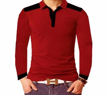 Mens New Full sleeve Design polo Shirt