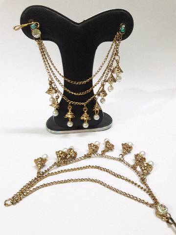 Bahubali 3 layer ear chain