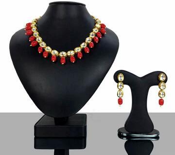 Minakari kundan necklace & earring set