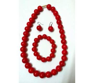 Ladies artificial pearl setting jewellery set