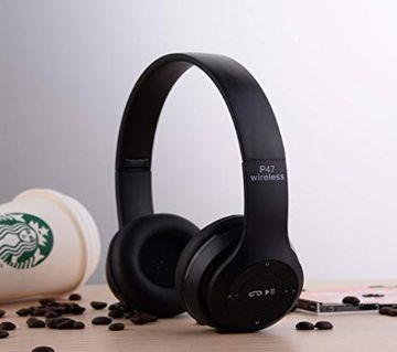 P47-Wireless Bluetooth Headphone-Black