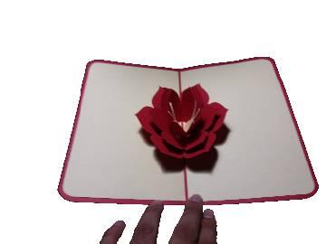 3d flower greeting card