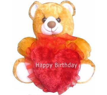 Heart shaped Happy Birthday pillow