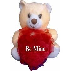 """Teddy bear with the text """"Be Mine"""""""