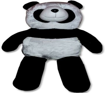 White and black color teddy bear