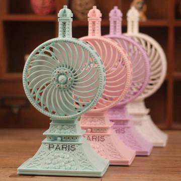 Rechargeable USB Eiffel Tower Pocket Fan