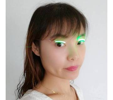Green LED Eyelashes