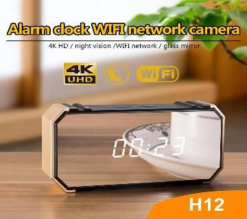 Spy Camera Alarm Clock 4K DVR Motion Detection Wifi IP Cam