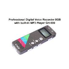 Professional Digital Voice Recorder 8GB GH-500 with MP3