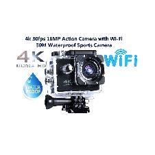 অ্যাকশন ক্যামেরা উইথ Wi-Fi 4k 30fps 16MP