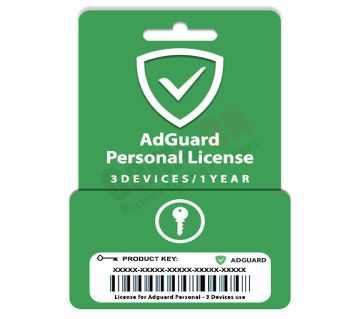 AdGuard Personal (Genuine License Key) - 3Devices/1Year