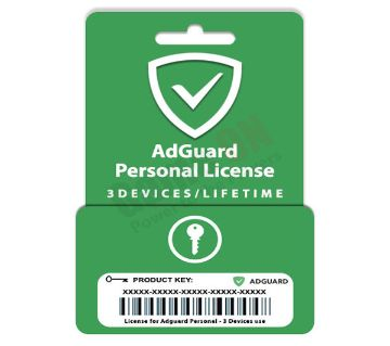 AdGuard Personal (Genuine License Key) 3Devices/Lifetime