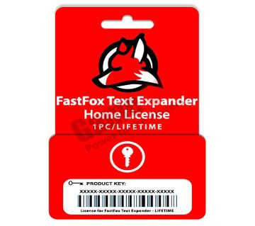 NCH FastFox Text Expander Home Edition (Genuine License) 1PC/Lifetime License