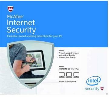 McAfee Internet Security- ৩ ইউজার (১ বছর)