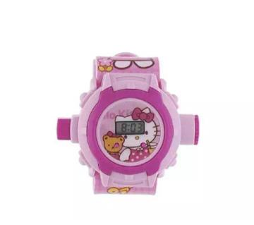 Kitty Cartoon images Projector Watch Pink