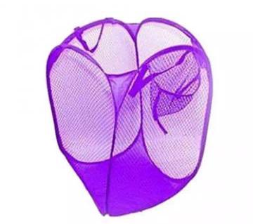 Washing Foldable Laundry Basket  (Purple)