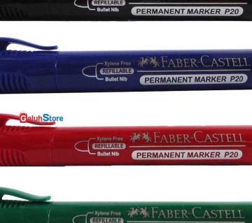 FABER CASTELL Permanent Marker - 4 pcs