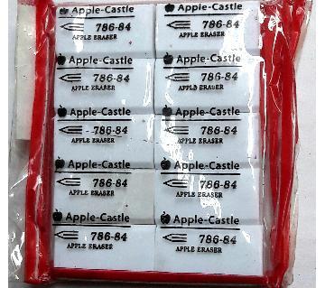 Apple Castle Eraser - 12 pcs