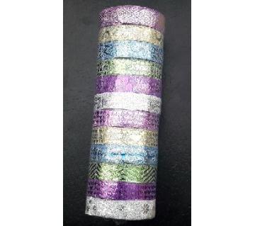 glitter Washi tape for handycraft 10 pcs