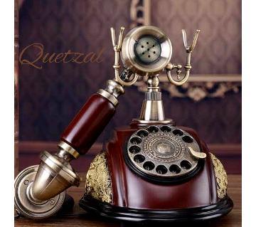 Antique design land line telephone set