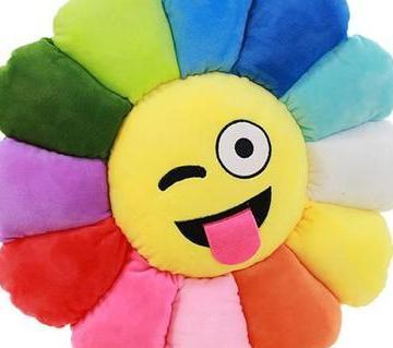 "sunflower emoji pillow 20"""