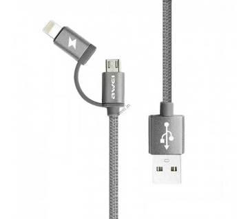 Awei Cl-930 2 in 1 মাইক্রো USB ক্যাবল