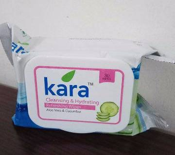 Kara Refreshing Face Wipes