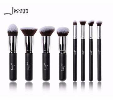 Jessup T053 8PCS ব্ল্যাক & সিলভার মেক-আপ ব্রাশ