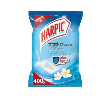 Harpic Toilet Cleaning Powder with Malodor Control Technology 400gm by Reckitt Benckiser