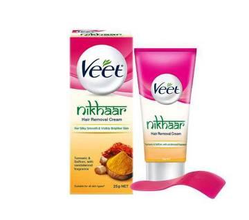 Veet Nikhaar Herbal Hair Removal Cream with Turmeric, Sandal & Saffron 25gm by Reckitt Benckiser